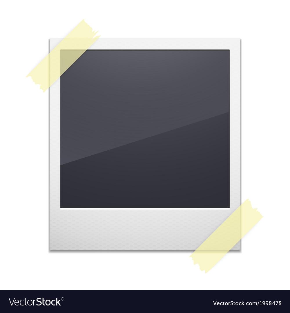 Retro photo frame isolated on white background vector