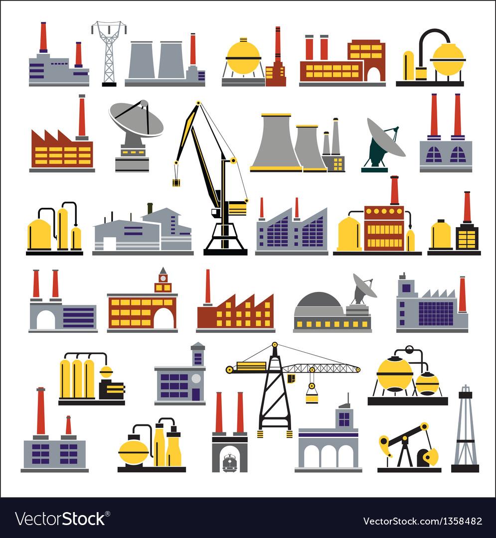 Industrial buildings vector