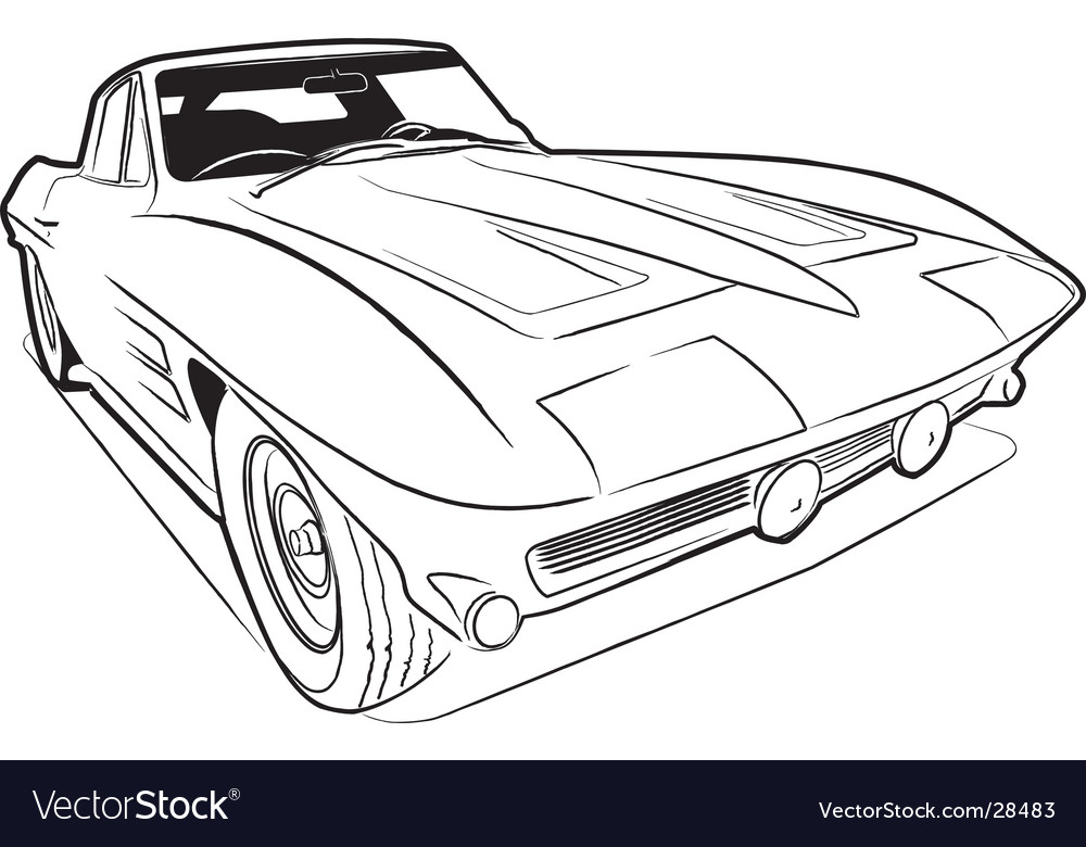 Vette sketch vector