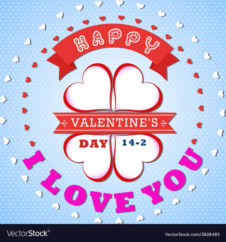 Valentines day invitation design background vector
