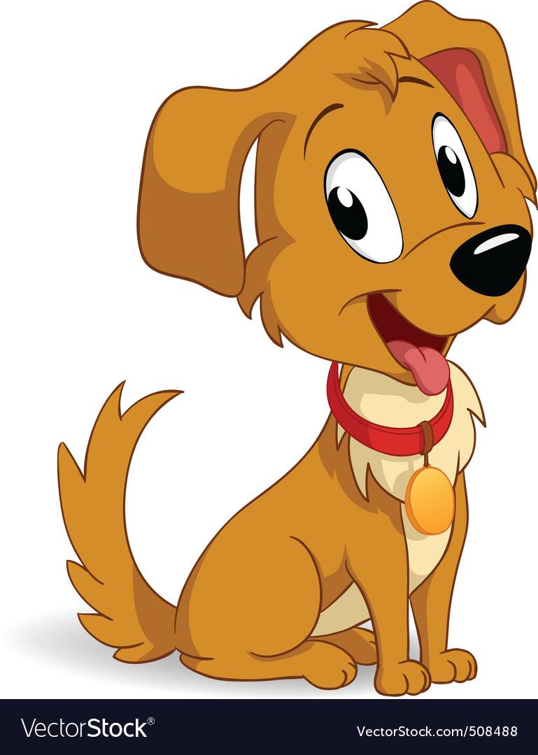 Artoon vector puppy dog vector