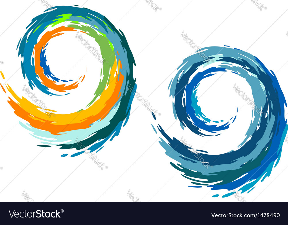 Colourful ocean waves vector