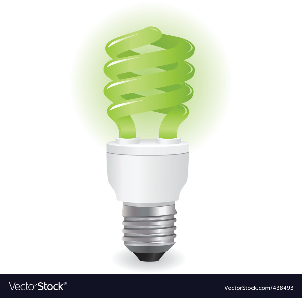 Ecological light bulbs icon vector