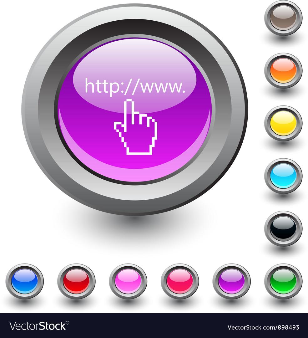 Www click round button vector