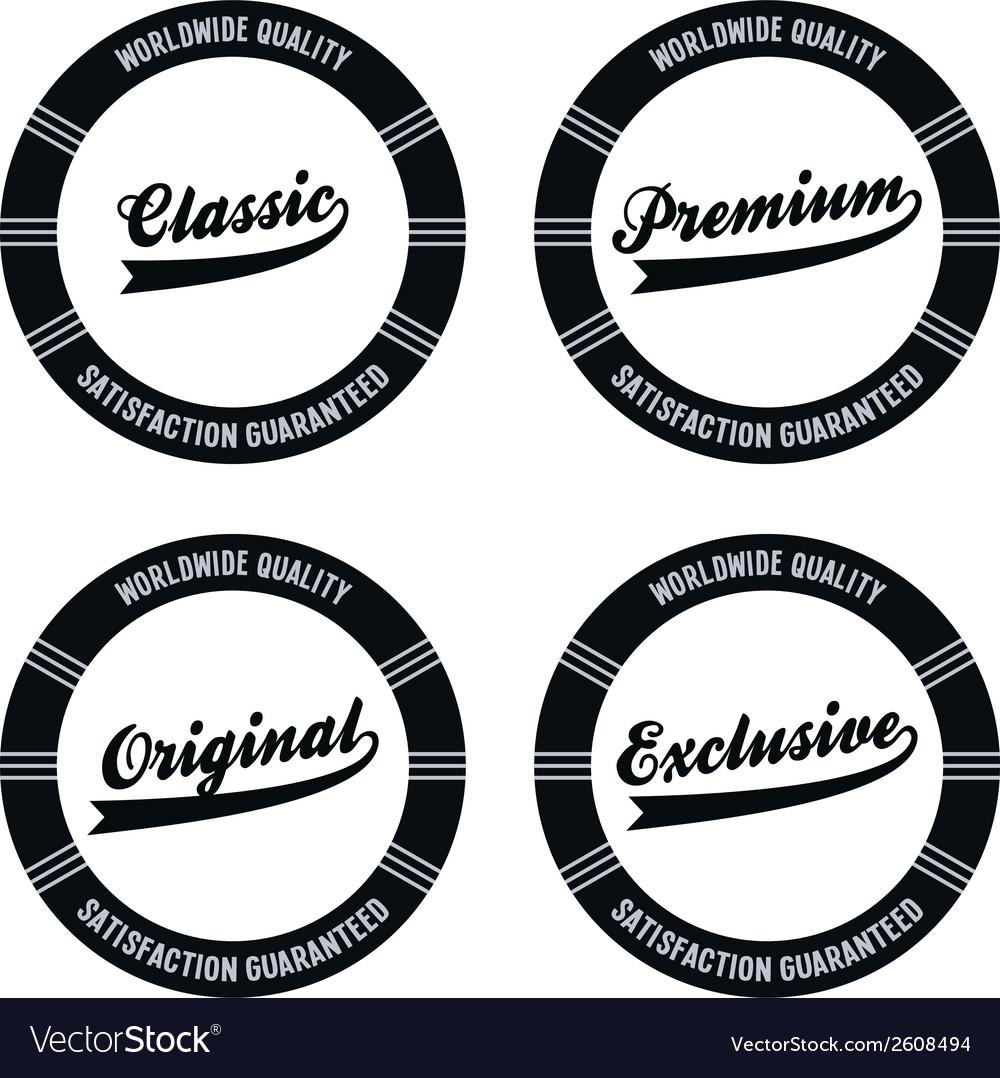 Premium label vector