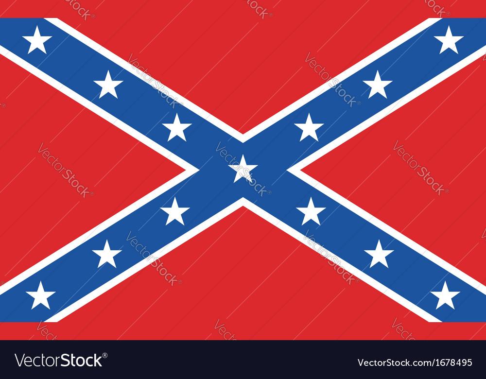 Confederate rebel flag vector