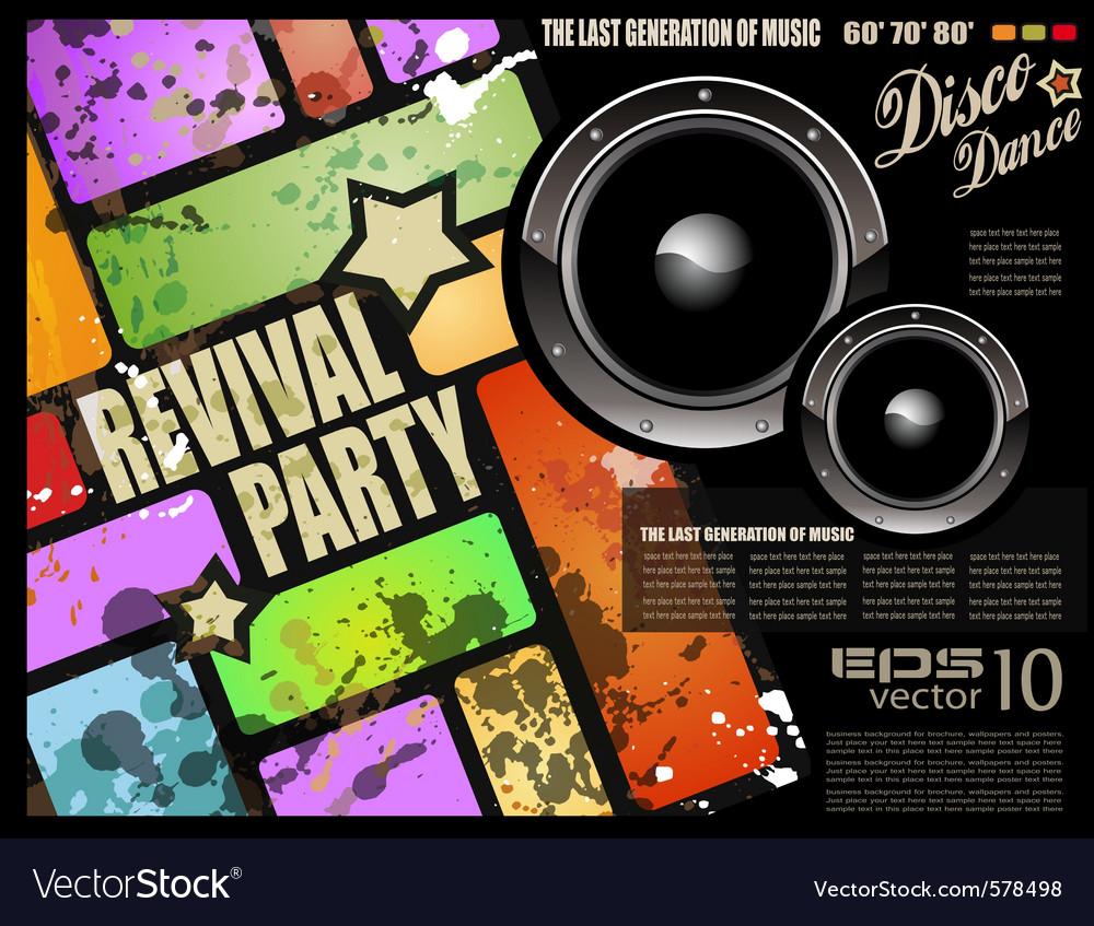Retro disco party vector