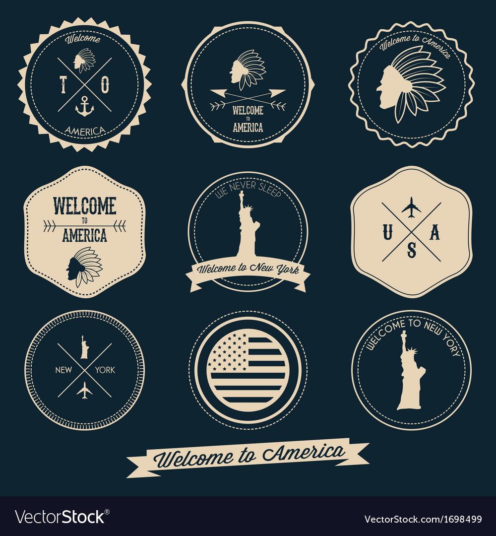 America label design vector
