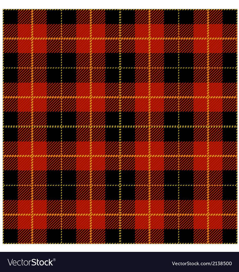 Red tartan plaid design vector