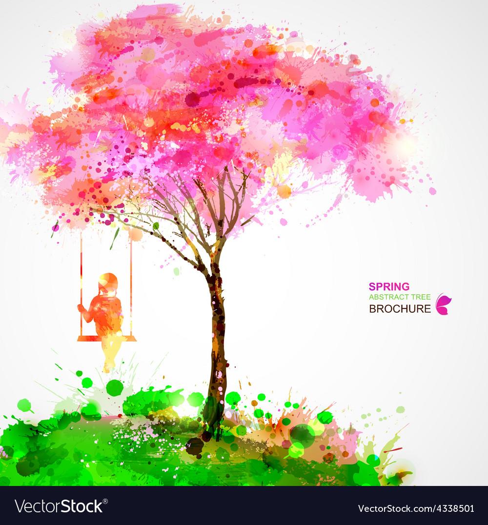 Artistic tree design vector