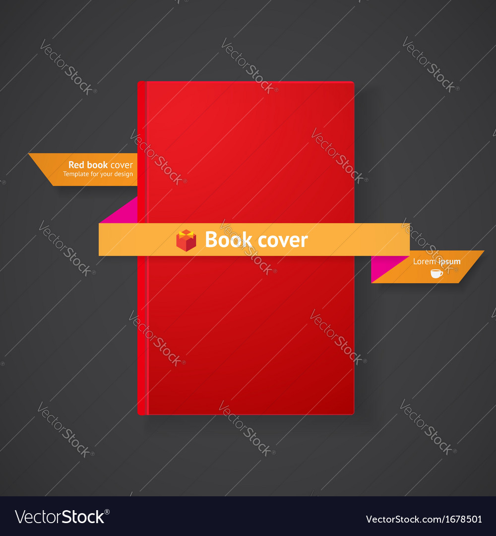 Book cover with ribbon vector