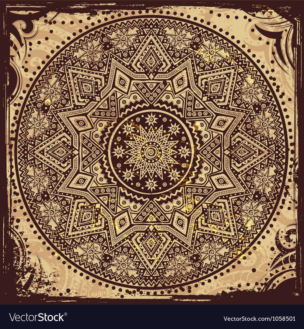 Indian ethnic ornament vector