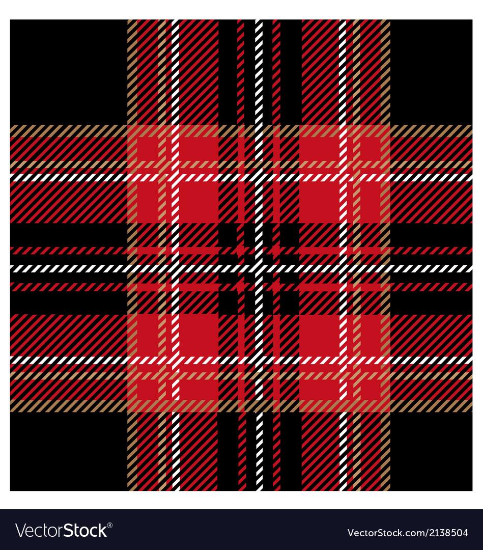 Royal black tartan design vector