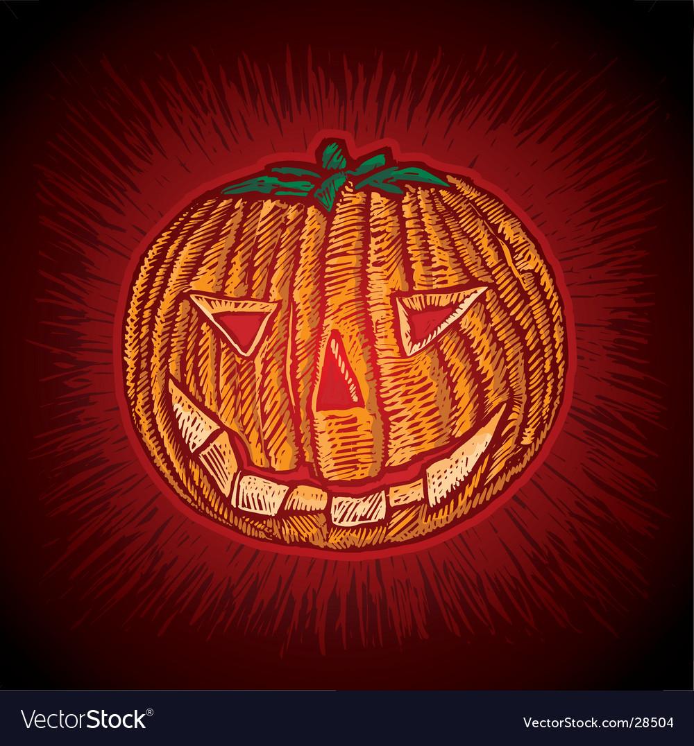 Spooky pumpkin vector