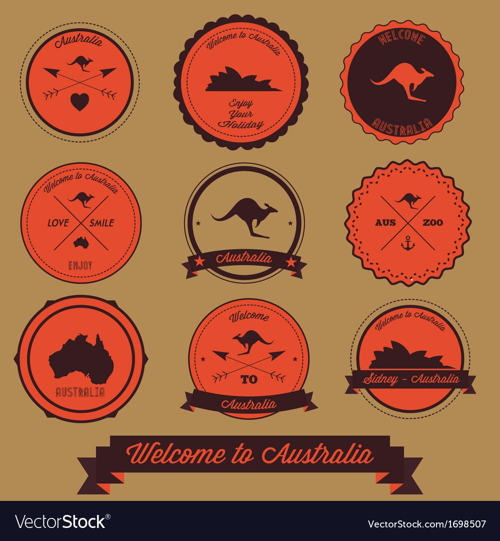 Australia label design vector