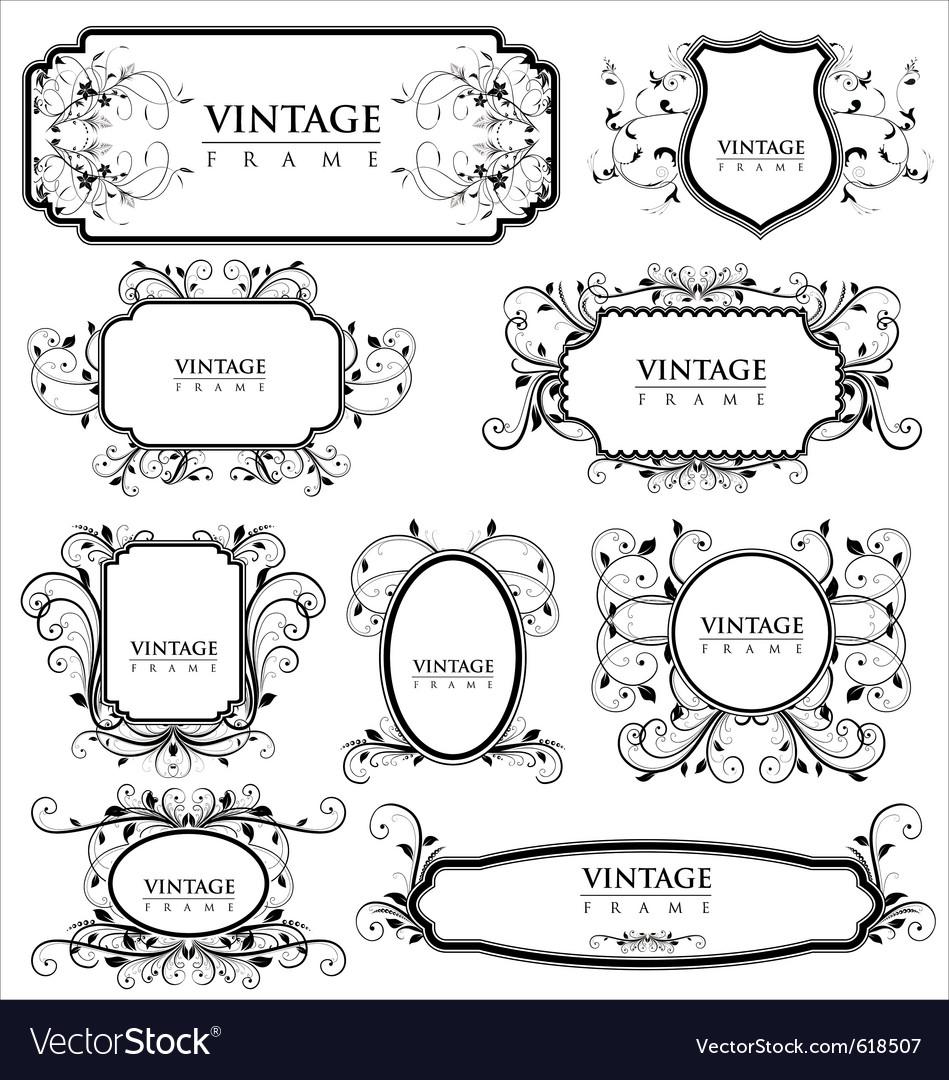 Empty vintage labels vector