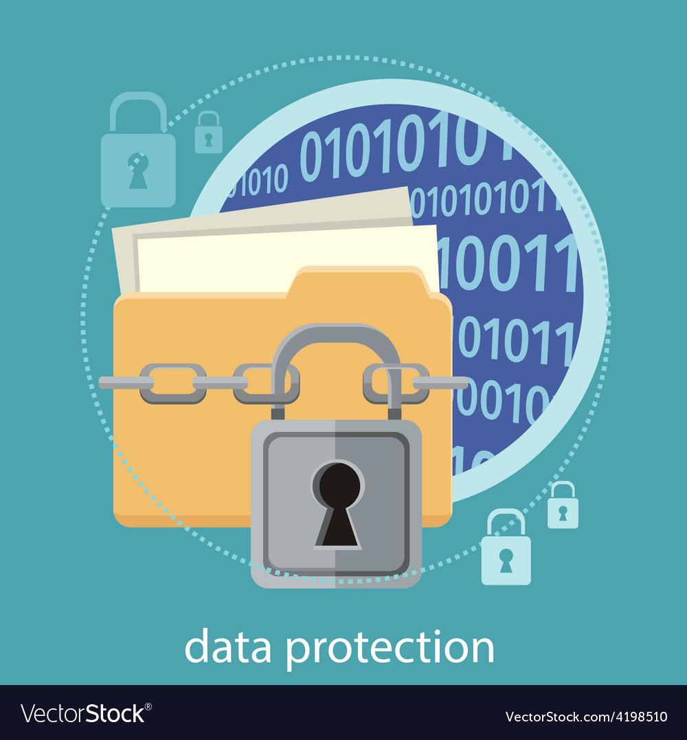 Data protection concept vector