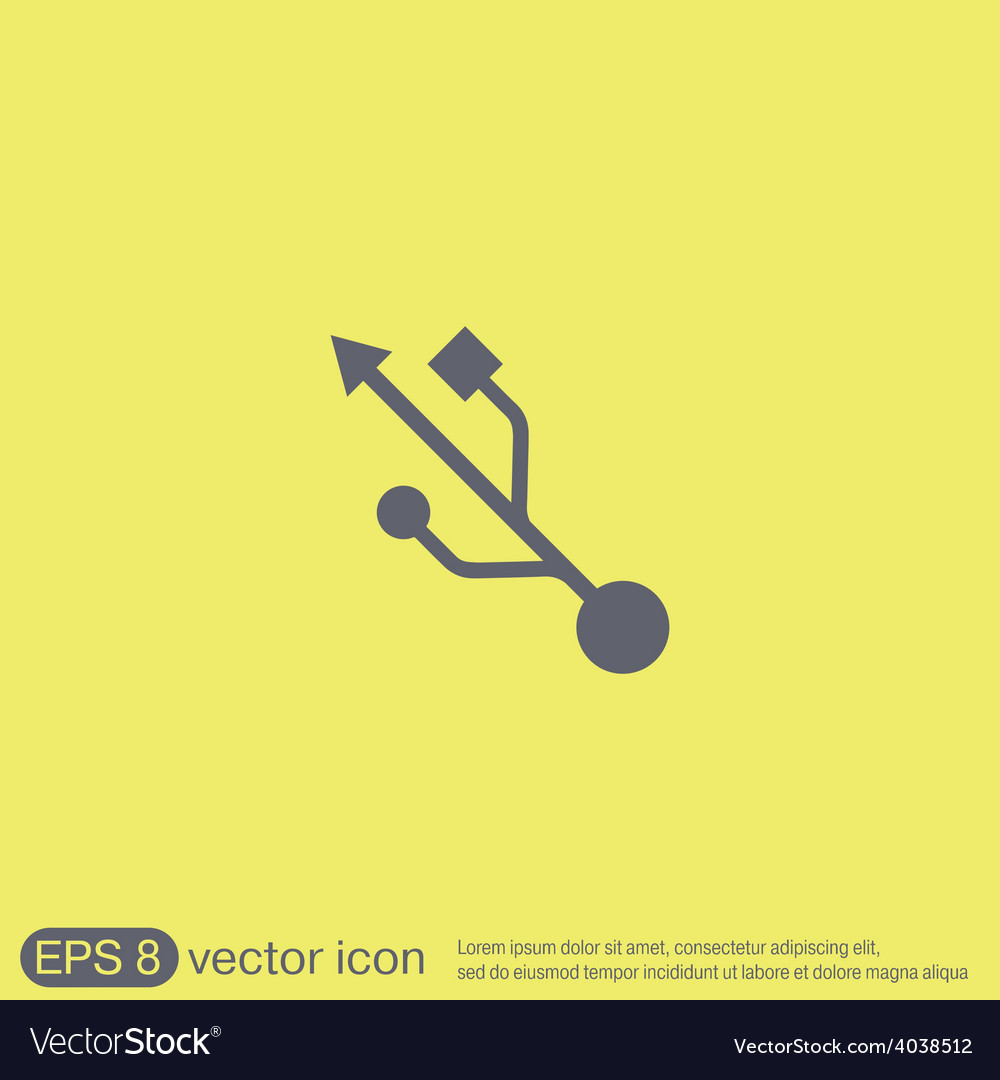 Usb symbol usb icon computer sign vector