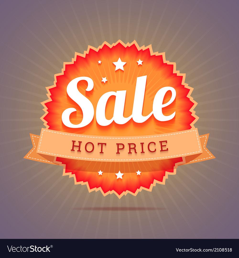 Hot price badge vector