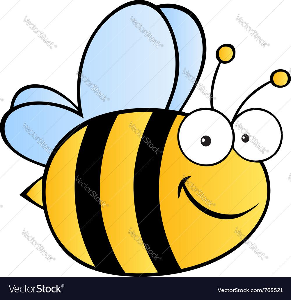 Happy bee vector