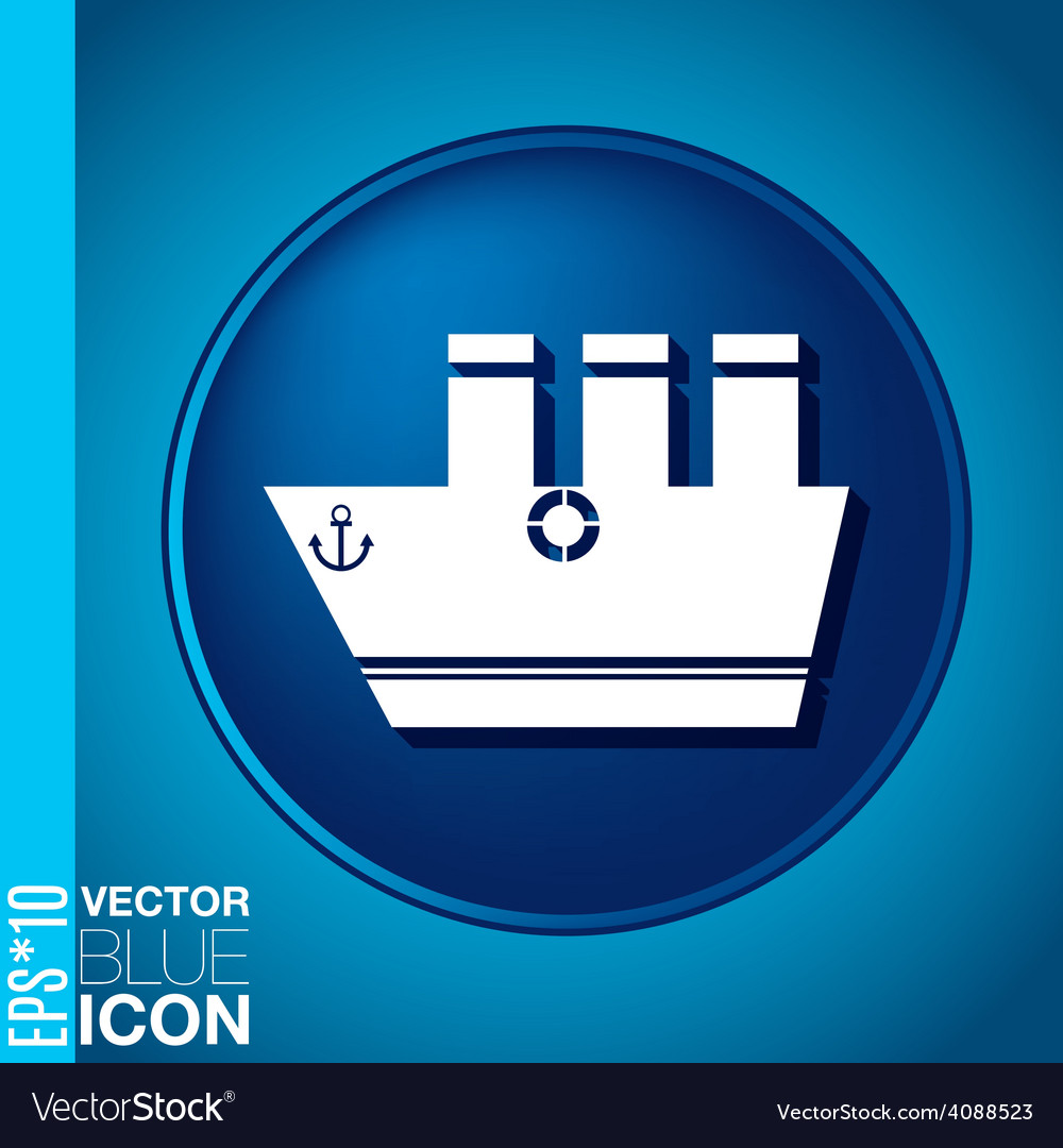 Sailing ship symbol icon boat steamer sailboat vector