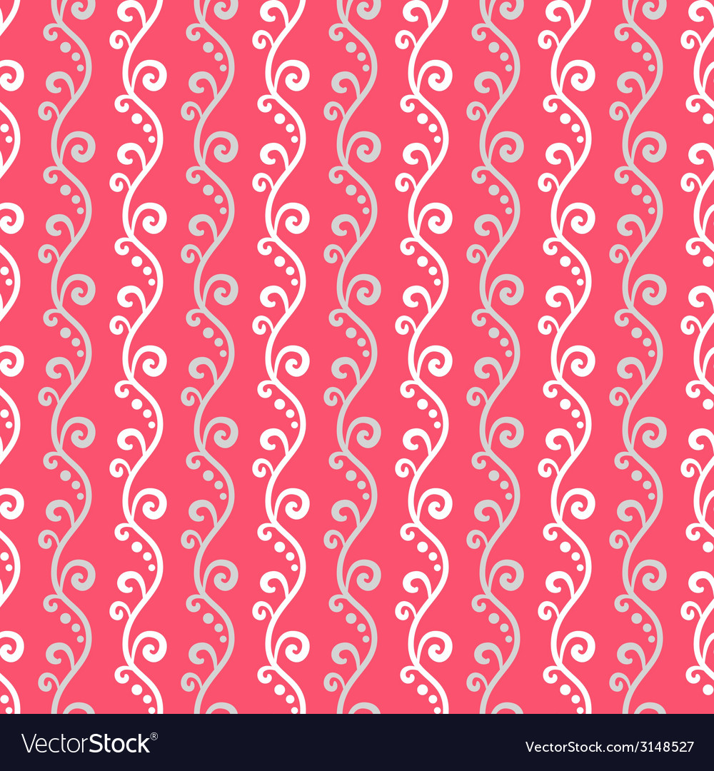 Cute different seamless pattern pink white and vector