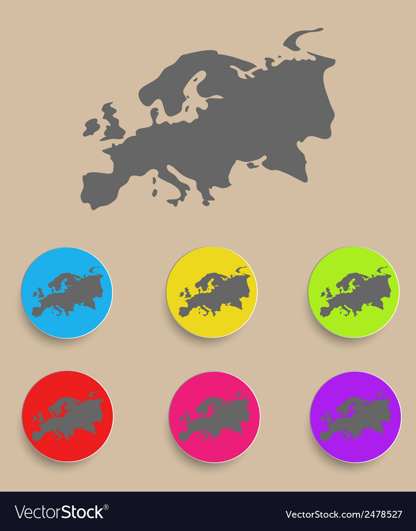 Europe map - icon isolated vector