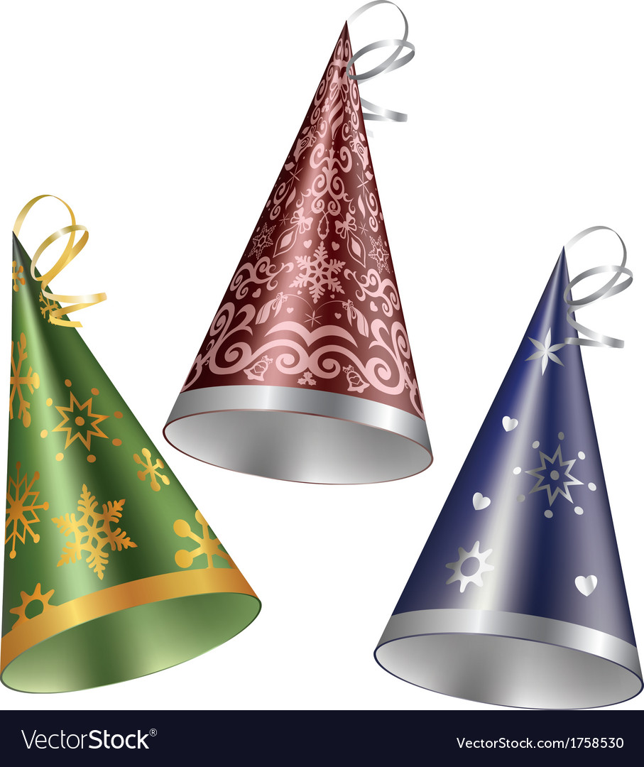Set of party hat vector