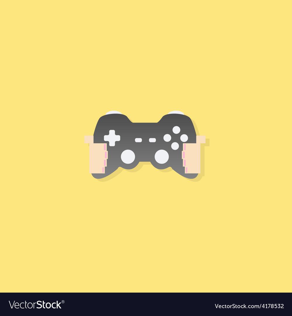 Cartoon doodle hand in joy games vector