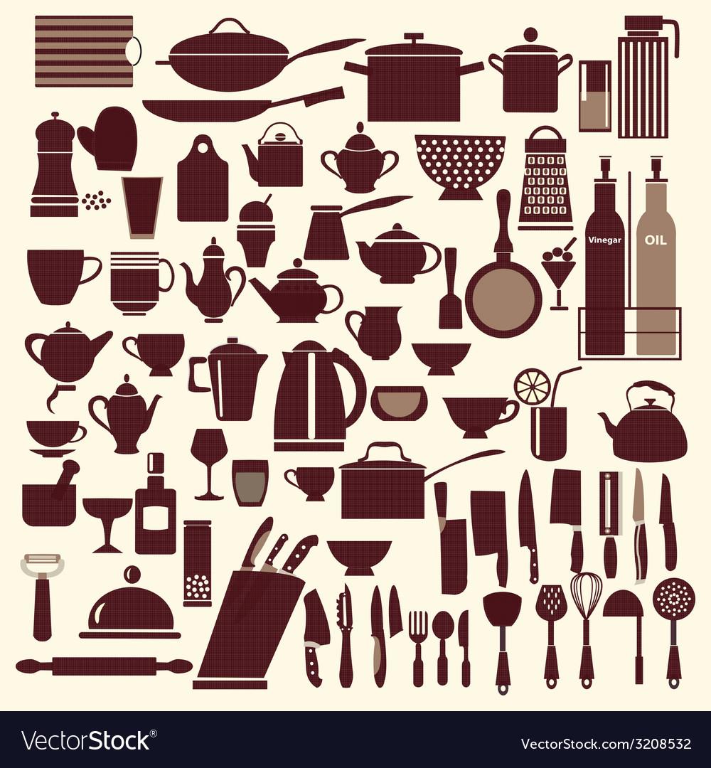 Kitchenware set - vector