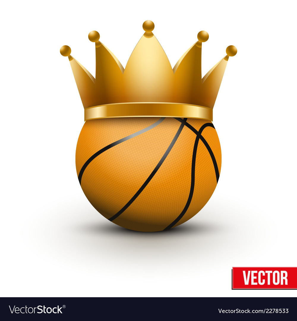 Basketball ball with royal crown vector