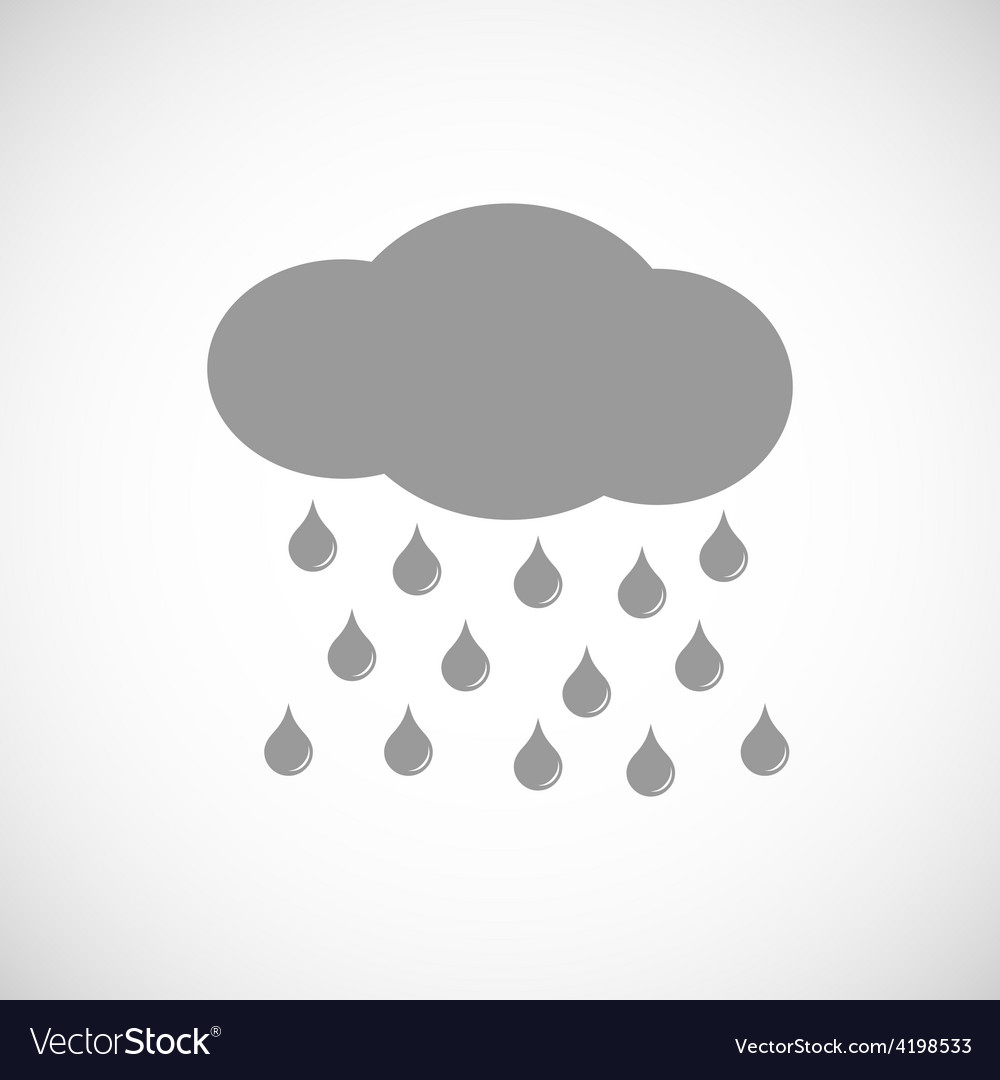 Rain black icon vector