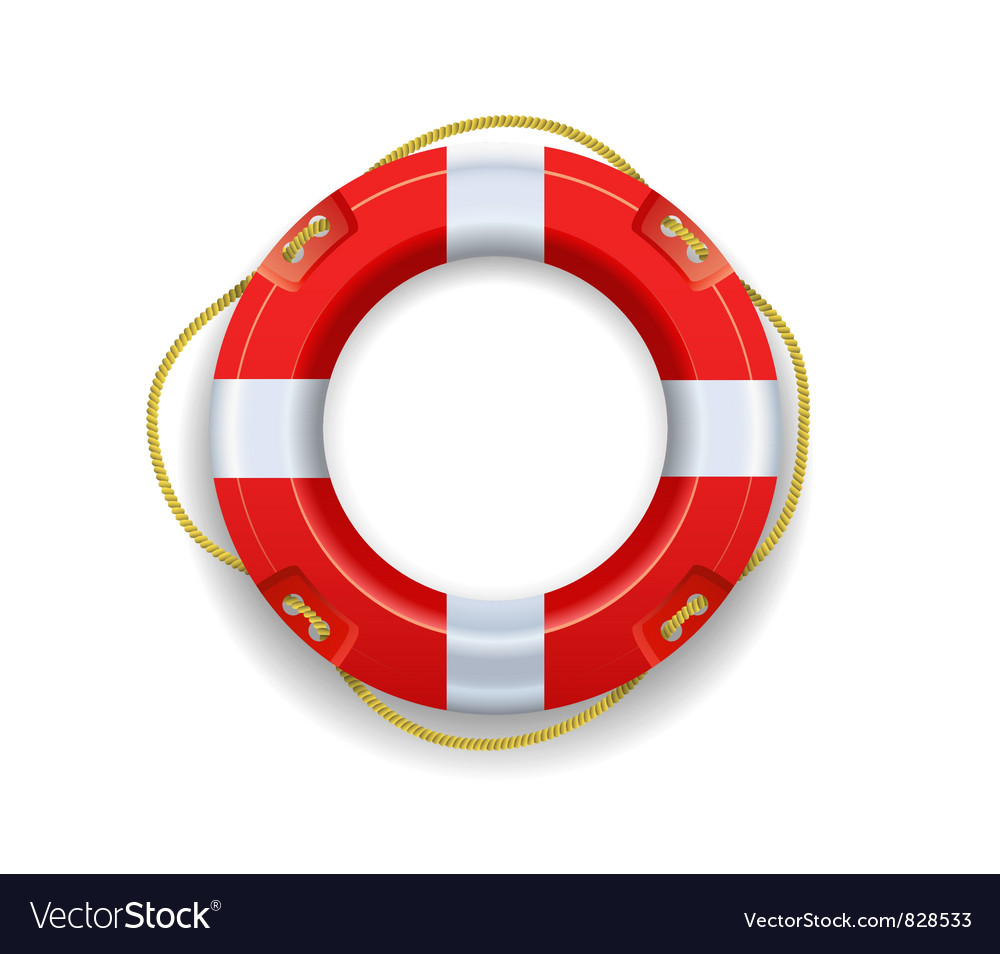 Ship lifebuoy vector