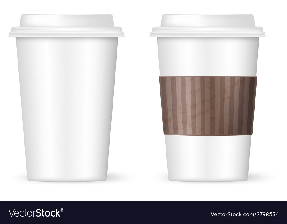 Modern coffee cups vector