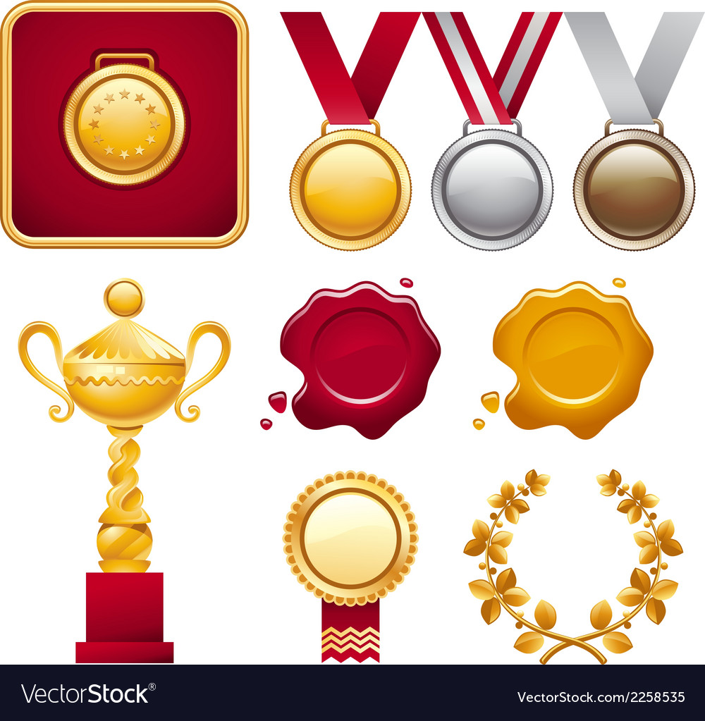 Collection of awards vector