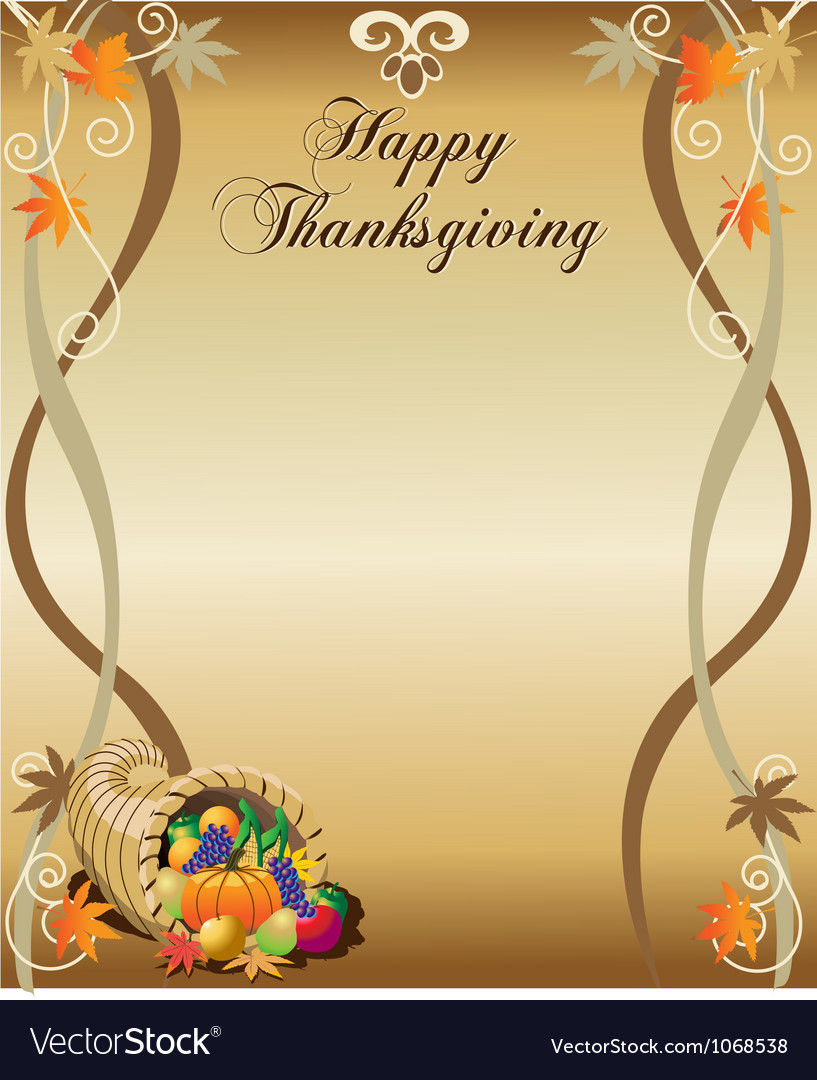 Thanksgiving menu or stationary vector