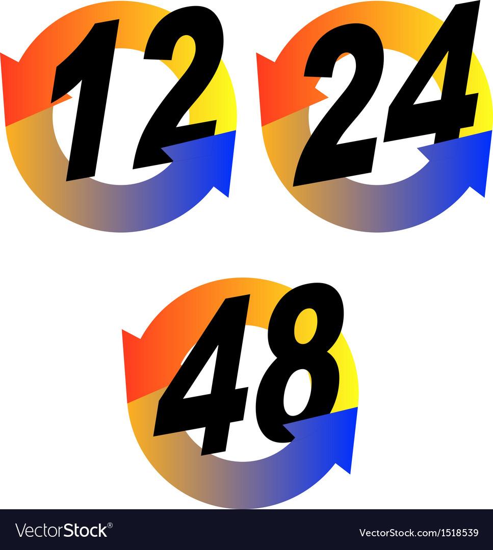 Hour arrow gradient vector