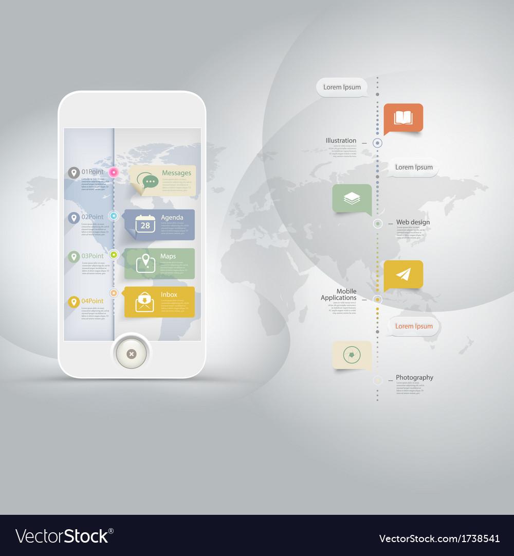 Technology infographics vector
