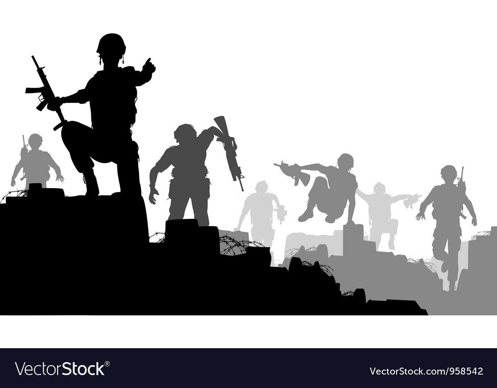 Combat troops vector