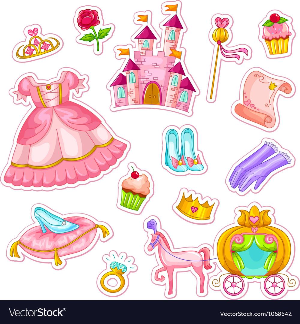 Princess collection vector