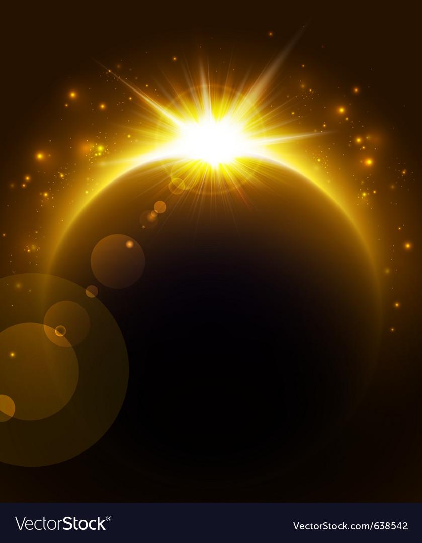 Rising sun vector