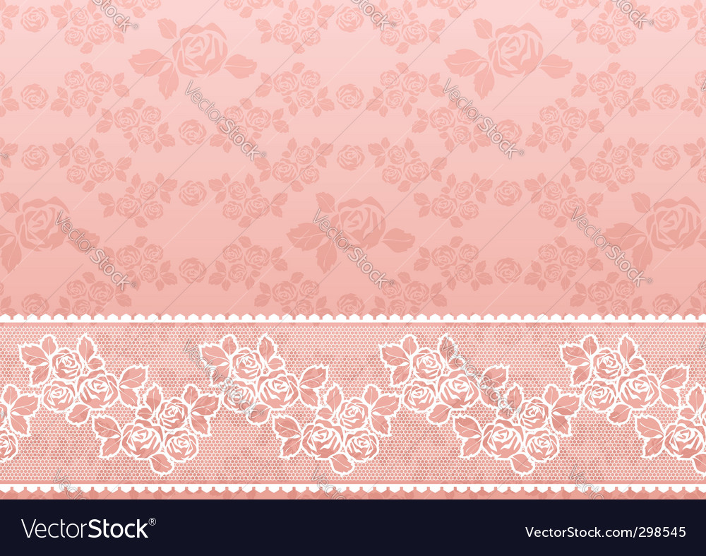 Lace rose vector