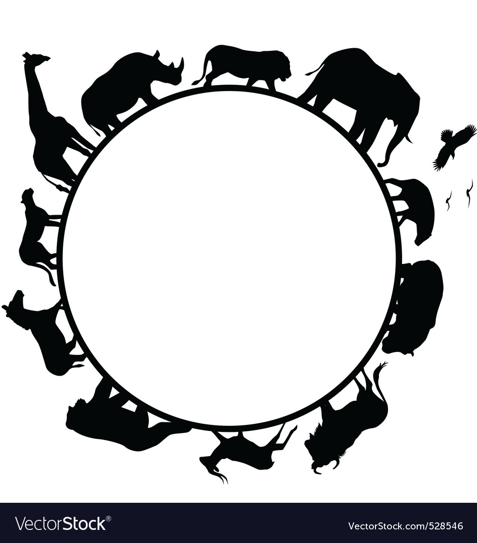 Animal africa silhouette vector