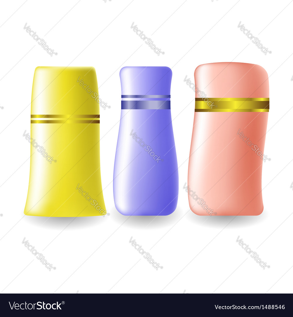 Plastic bottles for cosmetic vector