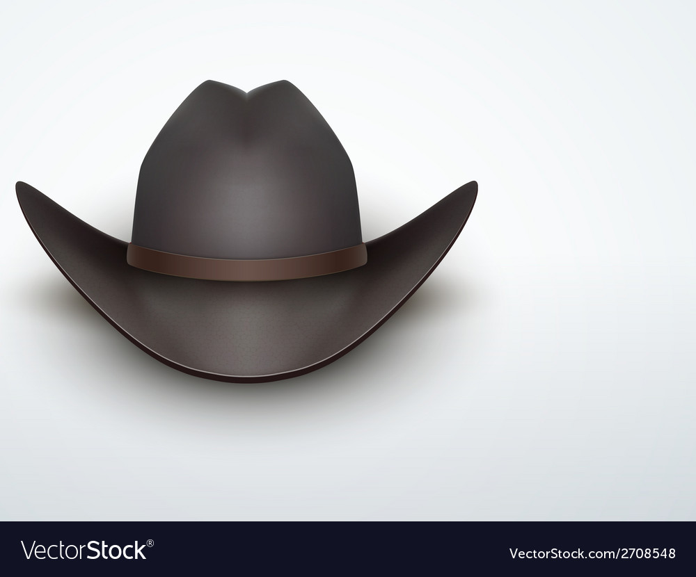 Light background black cowboy hat vector