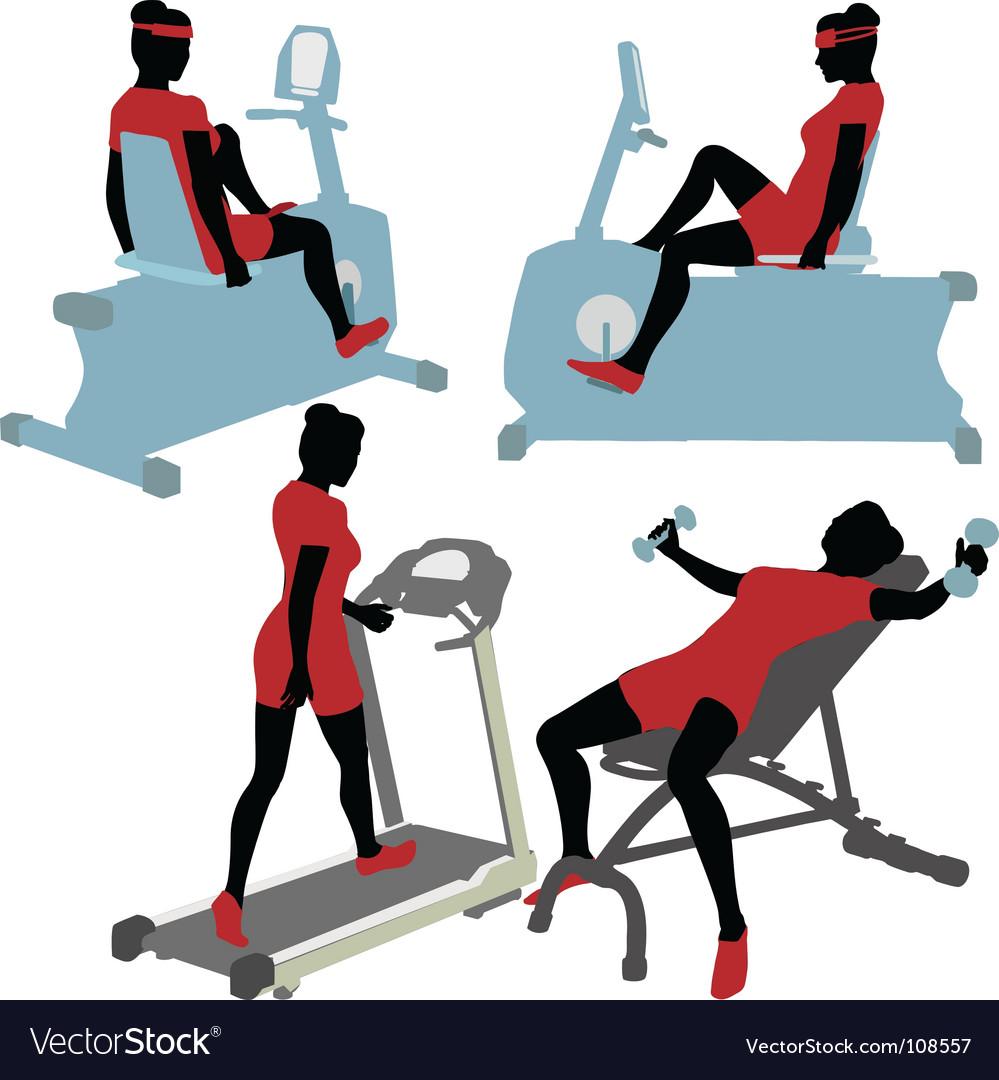 Exercise machines vector