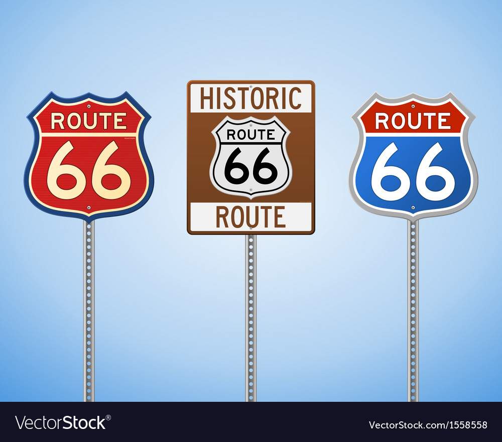 Route 66 vintage signs vector