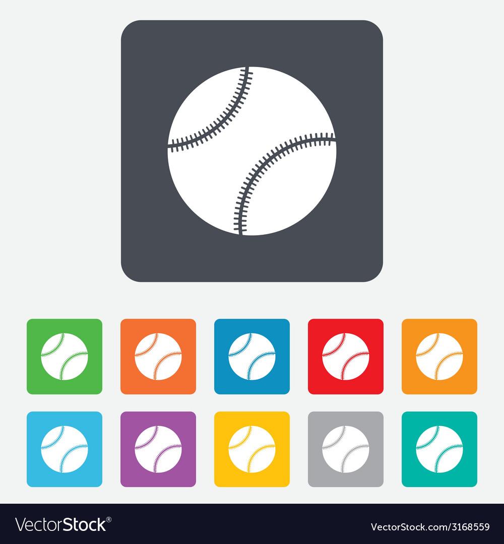 Baseball ball sign icon sport symbol vector