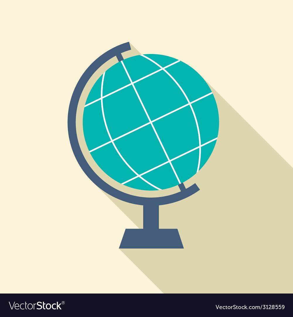 Flat design desktop globe vector