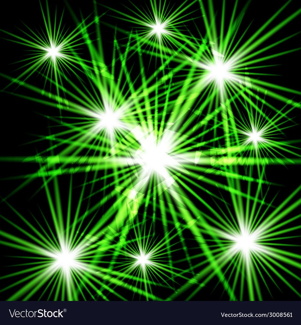Green shining cosmic light vector